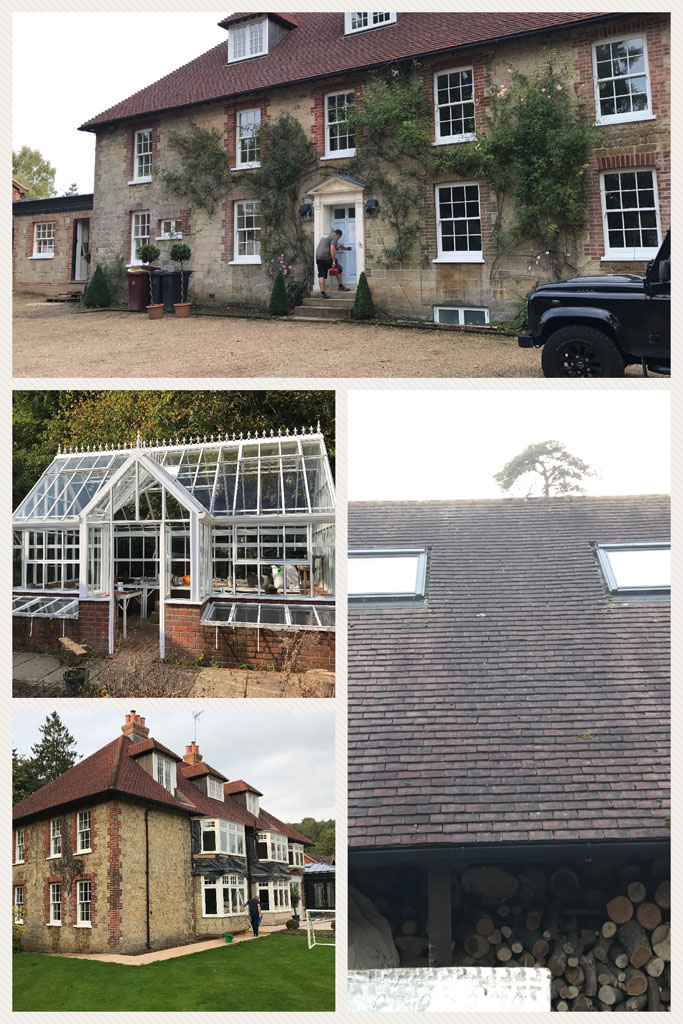 Window Cleaning at a stunning house