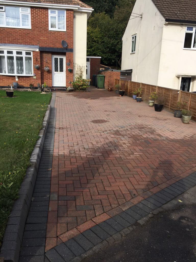 Driveway Cleaning - 3/4 Way Done