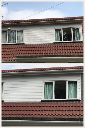 Cladding Clean Before and After