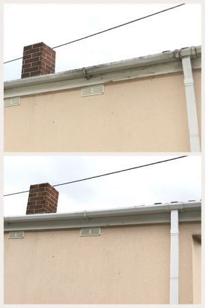 Fascia and Gutter Clean on Static Caravan