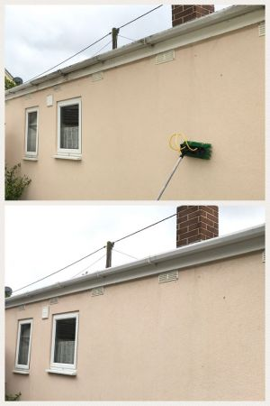 Gutter and Fascia Clean on Mobile Home in Greatham