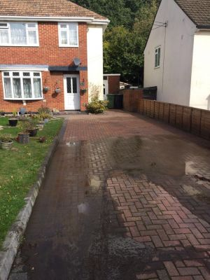 Driveway Cleaning - 1/2 Way Done
