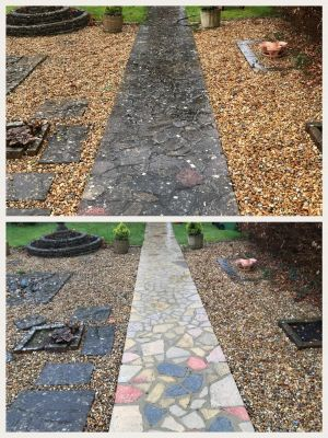 Path Pressure Washed in Alton