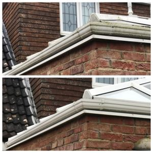 Conservatory Gutter Clean Before and After